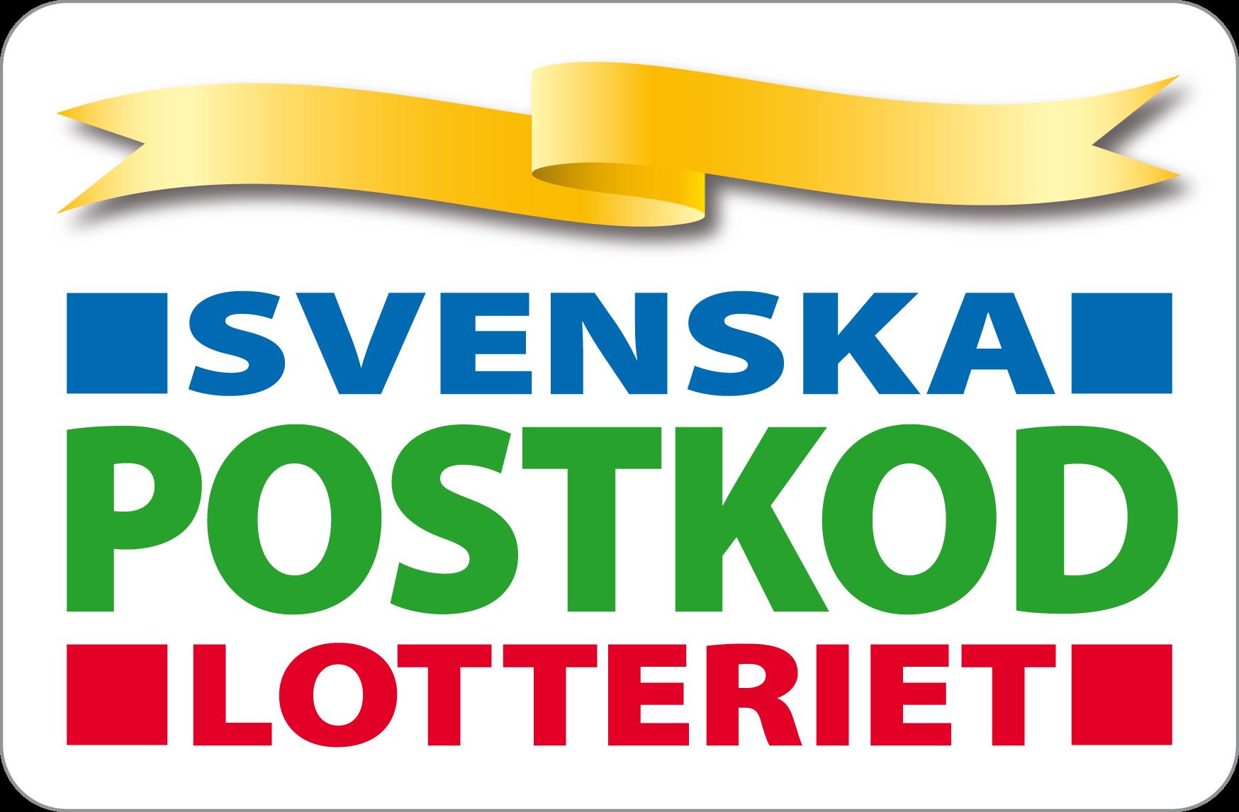 Logotyp för Svenska postkod lotteriet